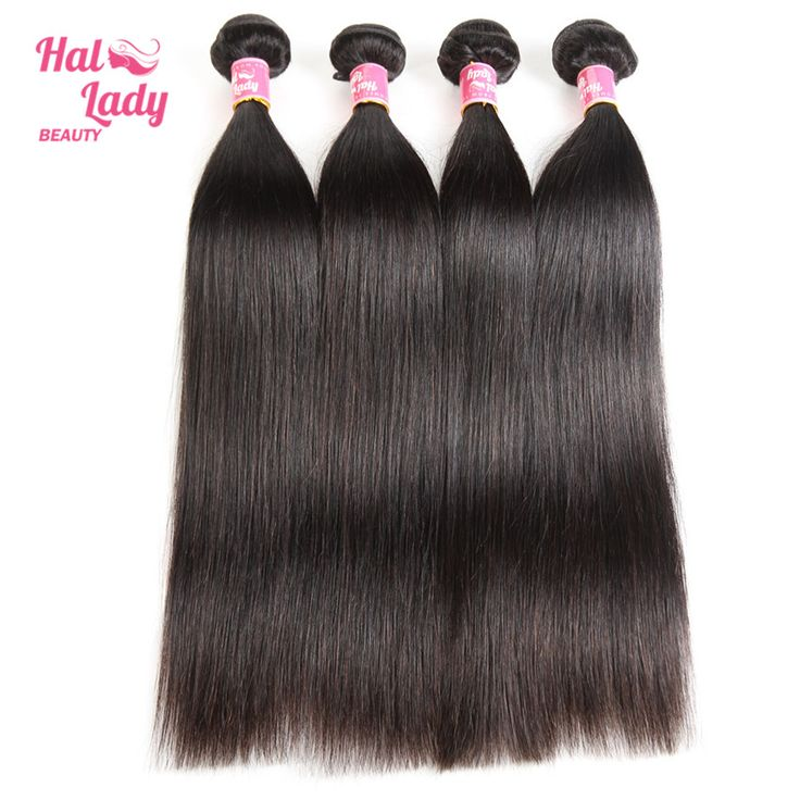 Halo Lady Beauty Hair 10-30inches Brazilian Straight Hair Weaves Remy Human Hair Extention 1 bundle each lot 100g Color 1B