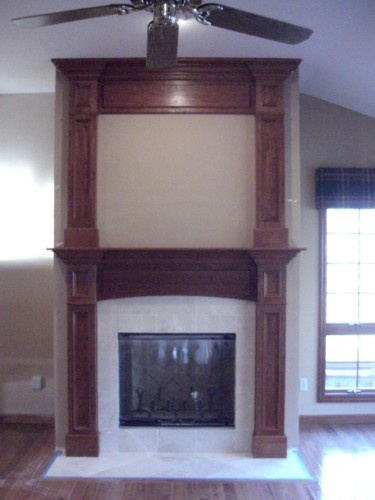 Custom Made Fireplace Surround Double Mantel Quot Garry