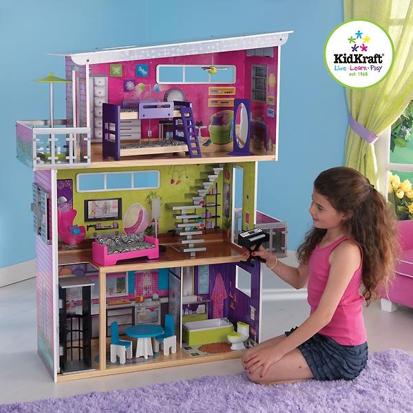 Houten poppenhuis van Kidkraft (Mijn Moderne Poppenhuis) inclusief meubels!
