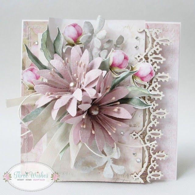 мк цветы для открытки скрапбукинг когда сын учился