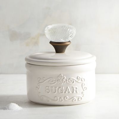 Add a touch of whimsy to your table with our retro-inspired sugar bowl. Crafted of earthenware with a light glaze, it's sure to bring smiles any time you reach for something sweet.