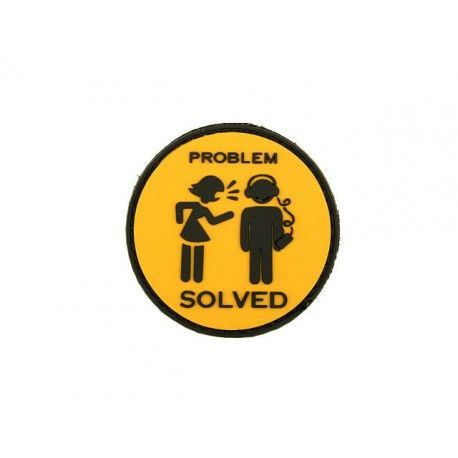 "PARCHE DE PVC DE GRAN CALIDAD CON VELCRO""PROBLEM SOLVE"" DIAMETRO: 60mm #MORAL #PATCH"