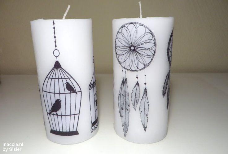 Kaarsen versieren met afbeeldingen doe je tegenwoordig met bakpapier, een afgedrukte afbeelding en föhn. Dat betekent minder geklieder en meer keuze.
