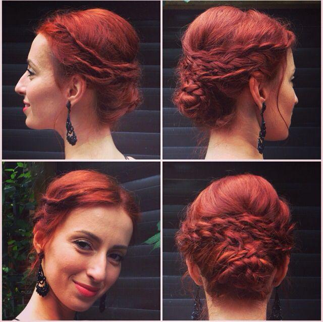 Braided red hair #wedding #braid #red #romantic