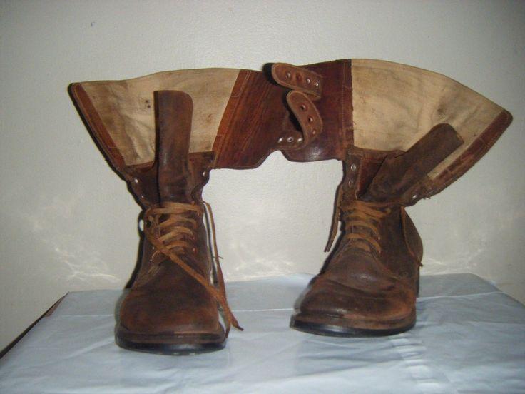 VINTAGE Russet Brown Combat US Army Boots Wingfoot Avon Du-Flex GoodYear sz 8 C in Clothing, Shoes & Accessories, Men's Shoes, Boots | eBay