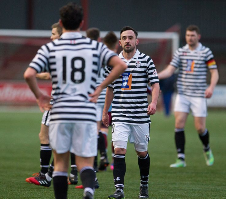 Queen's Park players celebrate their win after the Ladbrokes League One game between Stenhousemuir and Queen's Park.