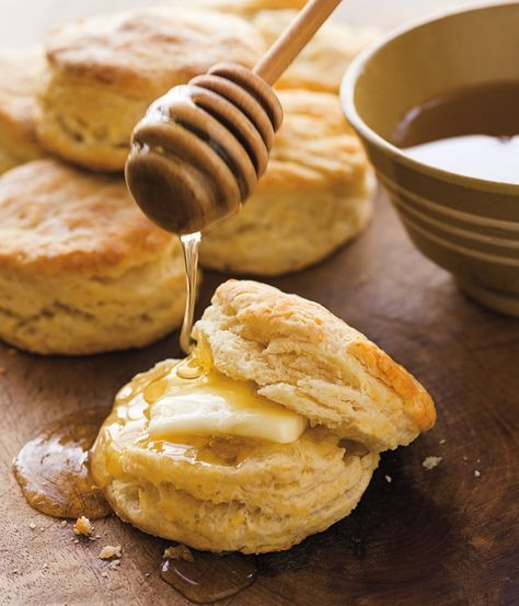 Homey, fresh baked biscuits are a staple of breakfast and brunch menus, whether smeared with sweet preserves or topped with creamy gravy. The secret to tender, flaky biscuits? When cutting the butt...