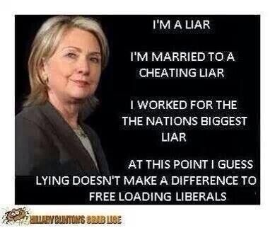 Hilary Clinton - What a liar looks like,in the mean time we put up with an egotistic muslim liar