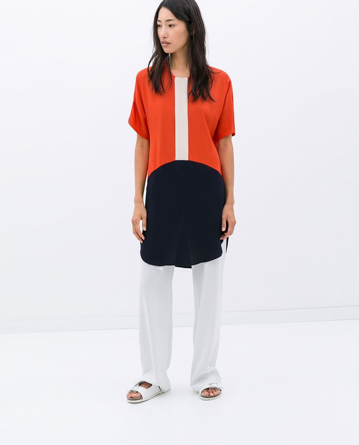 SHORT-SLEEVED TUNIC from Zara