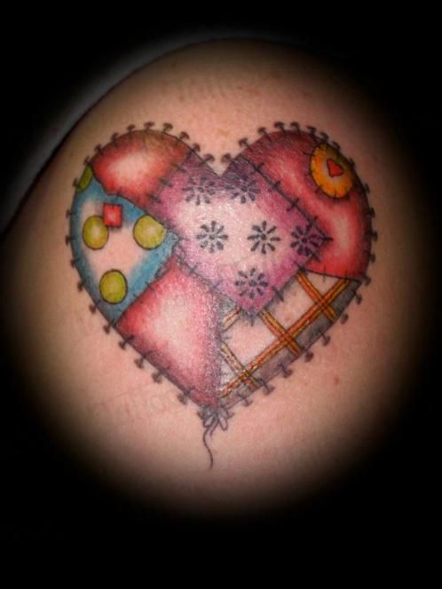 Patchwork Heart And Hope Tattoo Pictures to Pin on Pinterest ... : quilt heart tattoo - Adamdwight.com