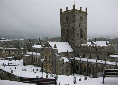 St David's Cathedral, St David's, Pembrokeshire - I've never seen St David's in the snow