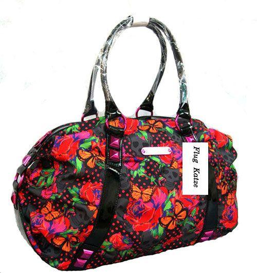 Skeleton  garden  hobo women  bags designer handbags high quality  rivet  Red Roses big female bag  lady's bag bolsas femininas