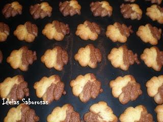 Biscoitos bicolor - Laranja