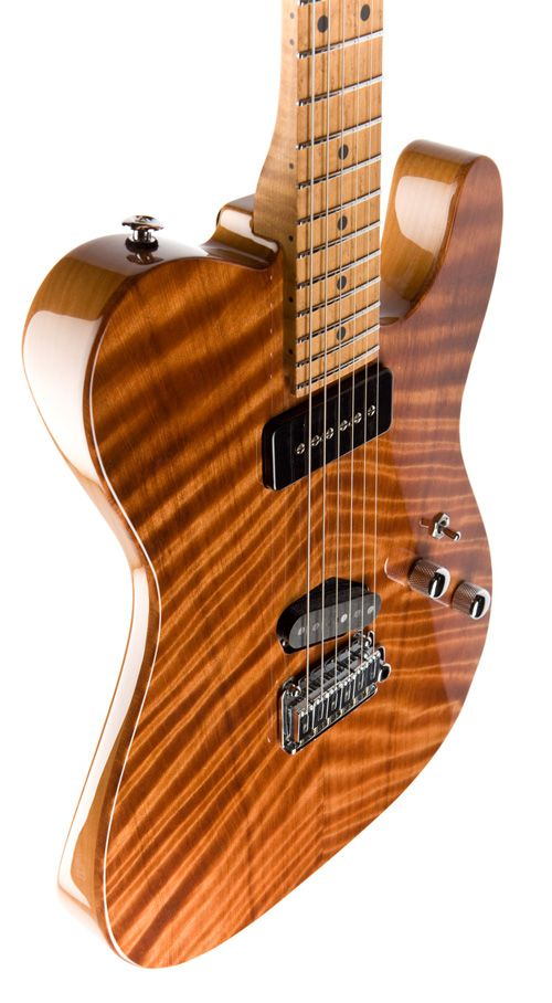 Fender Custom Shop Telecaster Classic => a Flame Redwood top and Alder body finished in Natural Gloss, 1 piece roasted Birdseye Maple neck, Gotoh 510 bridge, S90 neck pickup, and Classic T single coil bridge pickup.