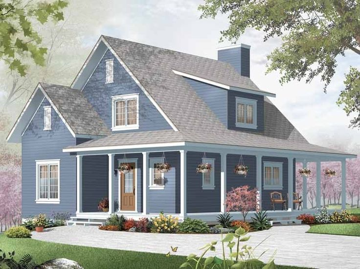 Country House Plan with 1370 Square Feet and 3 Bedrooms from Dream Home Source   House Plan Code DHSW67675