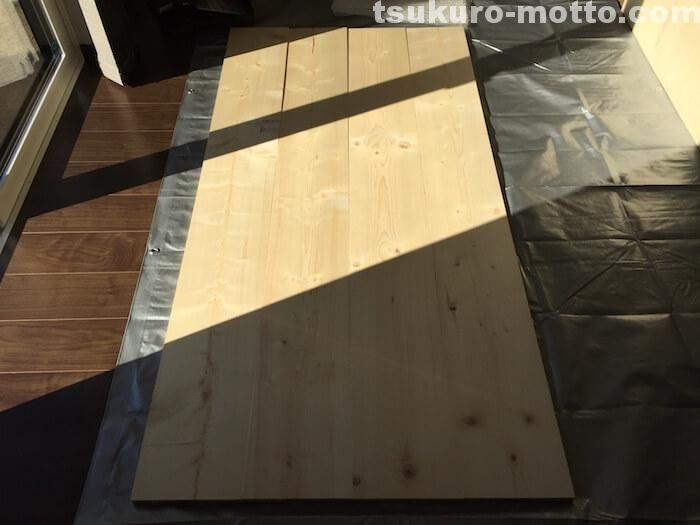 Spf材と鉄脚で作る1800mmカフェ風ダイニングテーブルの作り方 画像