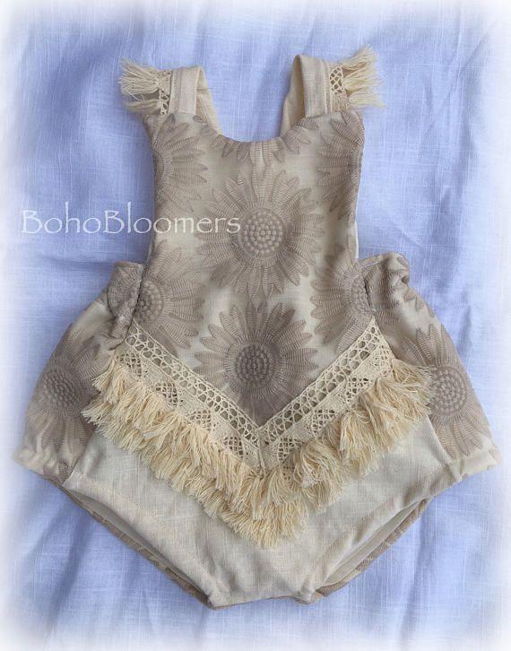 7d1f4f02e3a Girl Rompers Boho Romper Bohemian Clothing Baby Romper Girl Romper ...
