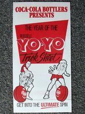 Genuine RUSSELL YO-YO Trick Sheet, Australia 1988 Coca-Cola Campaign, COKE YoYo