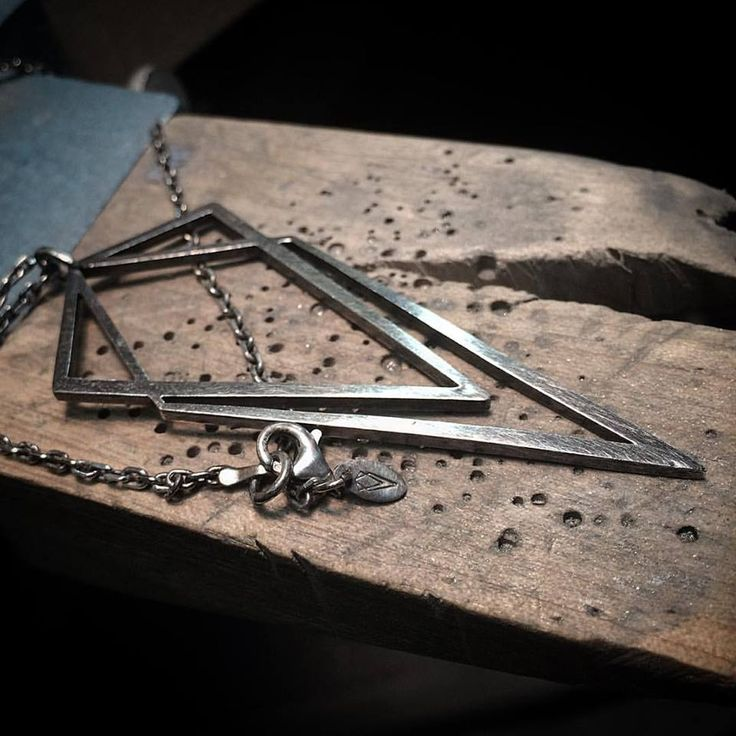 The Big Uneven pendant, sterling silver, oxidized geometric pendant