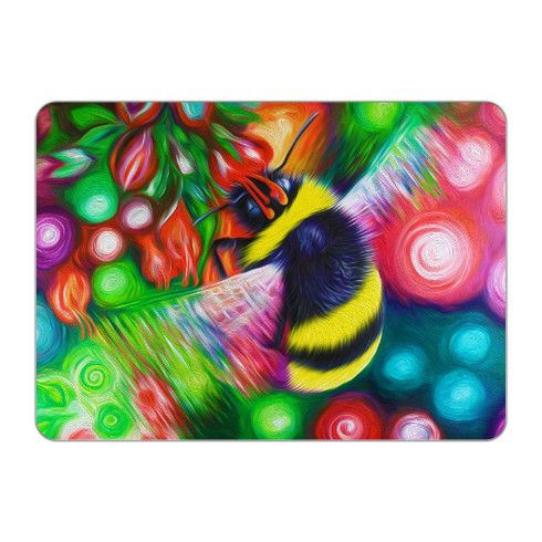 Bumble Bee and Flowers Placemat by simon-knott-fine-artist at zippi.co.uk