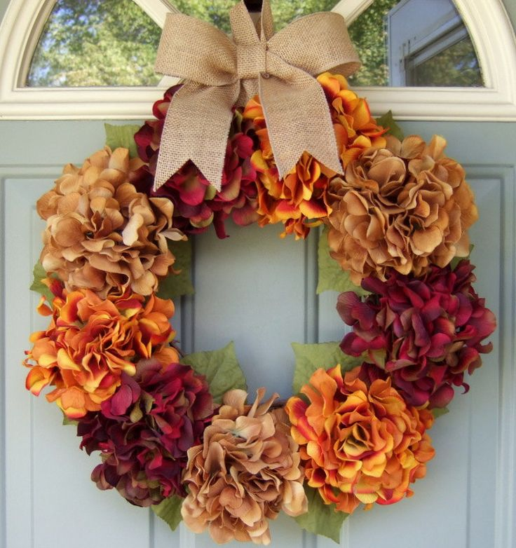 Fall Wreath  Fall Hydrangea Wreath  Fall Hydrangea by countryprim, $54.00