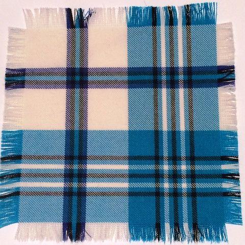 Turquoise Scott - 100% Wool Tartan Fabric – Highland In Style