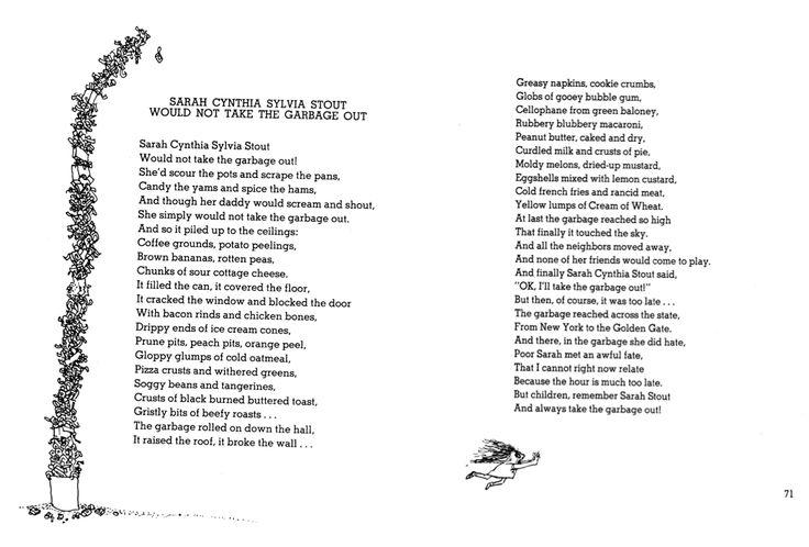 homework oh homework poem by shel silverstein