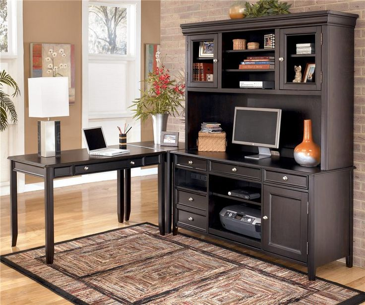 at with check l desk hutch wood office home furniture more real pin shaped