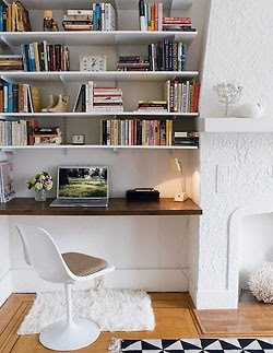 office nook #desk #shelving #storage