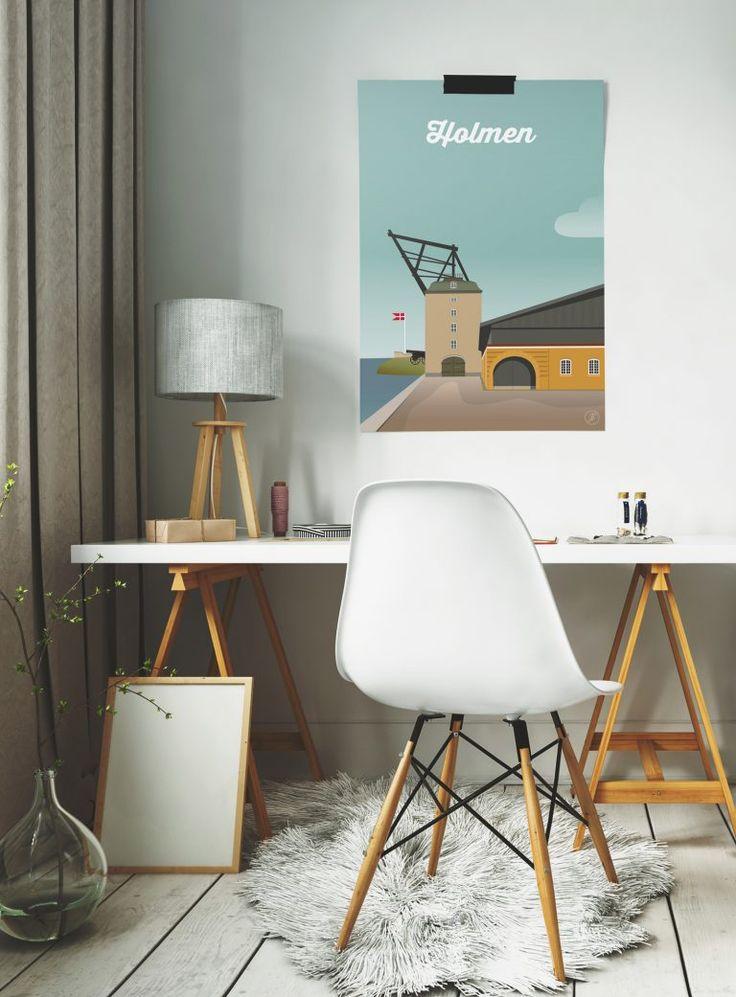 Holmen Copenhagen   illustration grafisk danmark illustrator plakat poster adobe design interior artwork