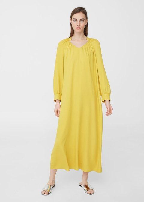 Długa lejąca sukienka