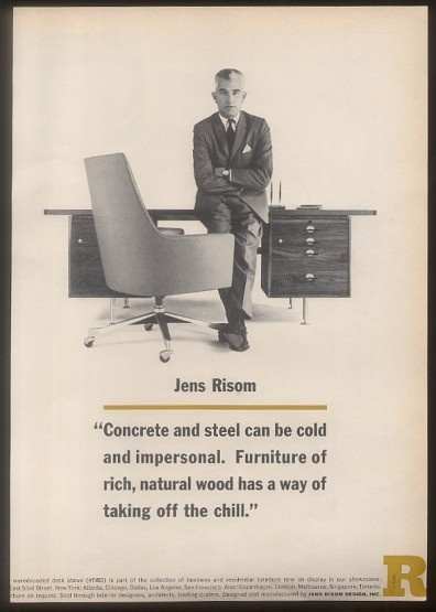 Designer Jens Risom 1962 Furnishings For Modernists