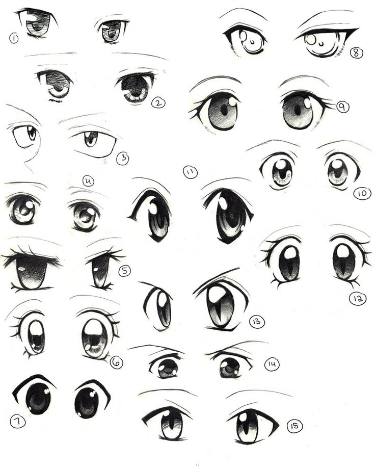 Anime eyes practice by saflam