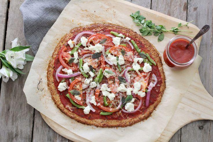 Bezlepková pizza z květákového těsta