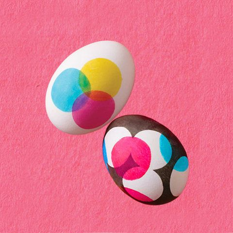 CMYK easter eggs - easter egg ideas