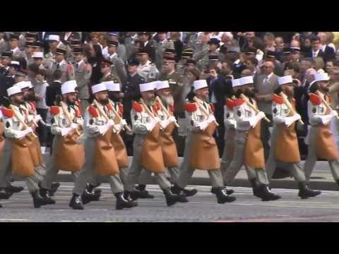 Légion Étrangère défilé militaire du 14 Juillet 2014 - YouTube