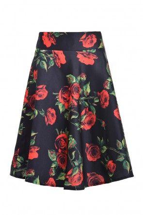 Zena Rose Print Skirt