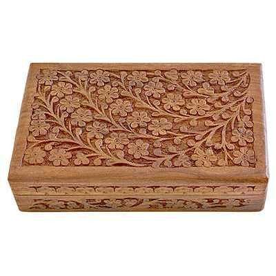 Carved Wooden Jewelry Box Wooden Jewelry Chest Hand Carved Walnut