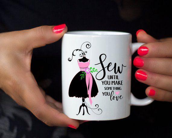 Sew Mug Fashion Designer Mug Fashionista Diva Crafty Mug Fashion Coffee Mug Love Sewing Mug Seamstress Gift Sewing Lover Cute Fash Love Sewing Mugs Coffee Mugs