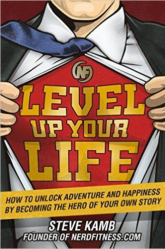 """Level Up Your Life: How to Unlock Adventure and Happiness by Becoming the Hero of Your Own Story"" by Steve Kamb   DESCRIPTION: For the past 5 years, Steve Kamb has transformed himself from wanna-be daydreamer into a real-life superhero and actually turned his life into a gigantic video game: flying stunt planes in New Zealand, gambling in a tuxedo at the Casino de Monte-Carlo, and even finding Nemo on the Great Barrier Reef. To help him accomplish all of these goals, he built a system that…"