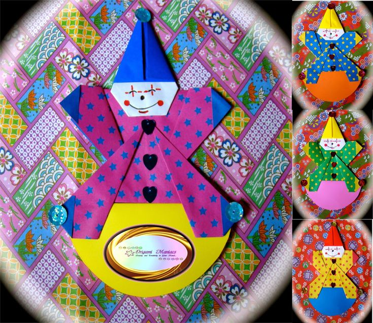 Origami Maniacs: Cute Origami Clowns