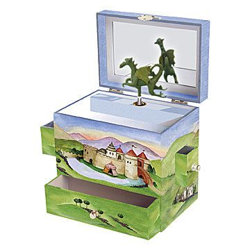 Open the lid of this gorgeous children's music box by Enchantmints to see the…