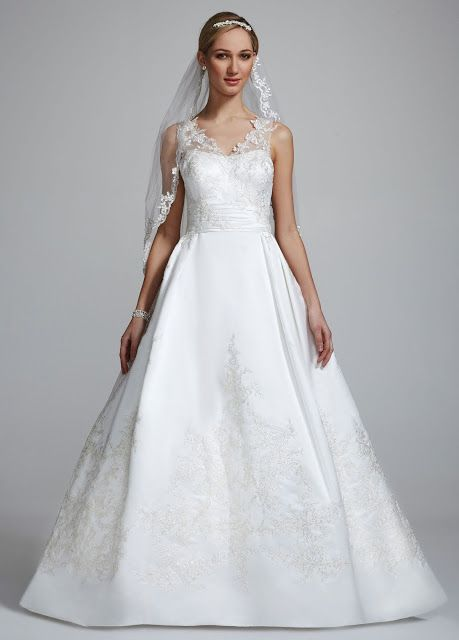 Oleg Cini For David S Bridal Illusion Gown Five Wedding Dresses Under 500 Dollars