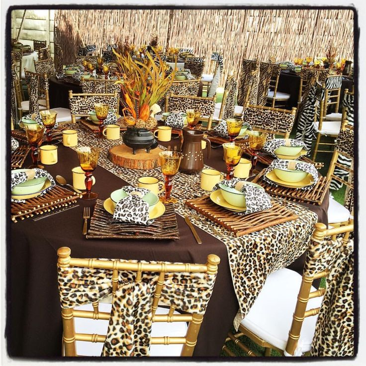 Traditional african wedding decor zulu wedding wedding for Table and chair decorations for weddings