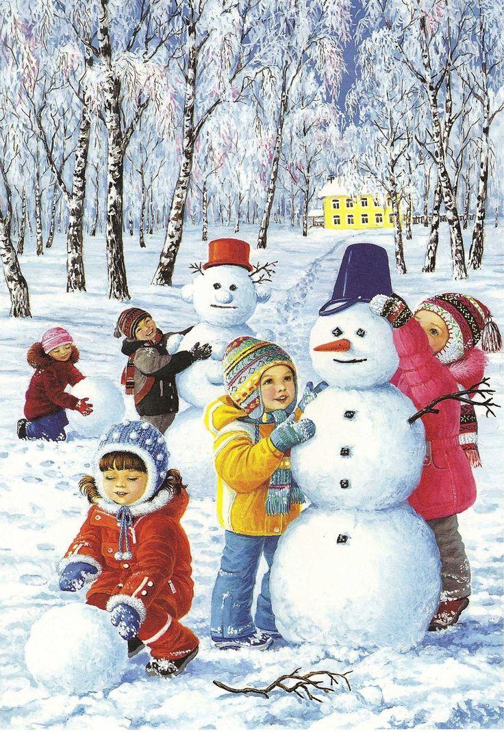 Leuke plaatjes sneeuwpopen makn