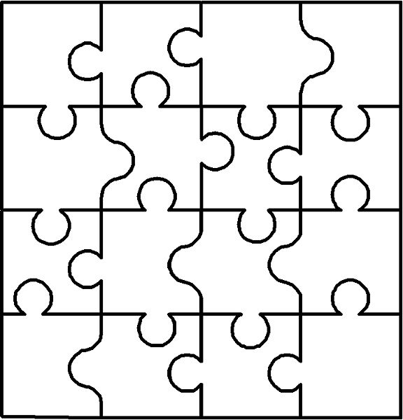 Blank puzzle. I could do so much with this! ieder kind een puzzelstuk laten maken = groepswerk