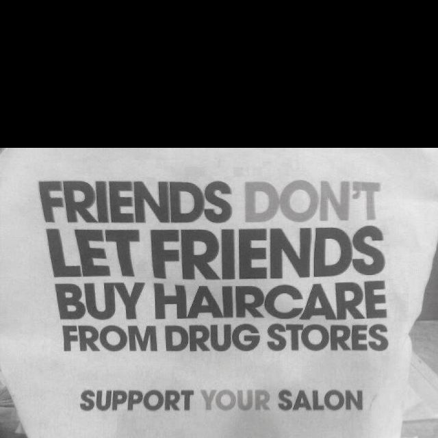 A little hair stylist humor :) this is true though. That stuff is not real.