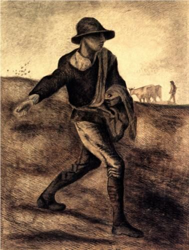 Sower (after Millet) - Vincent van Gogh