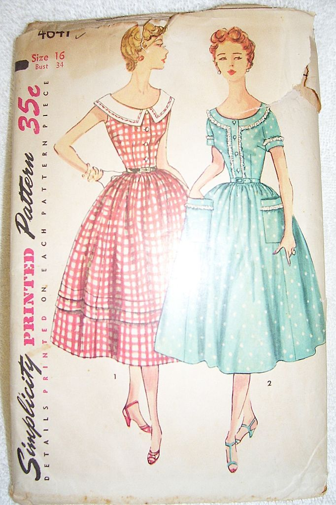 vintage simplicity dress pattern jpg 1080x810