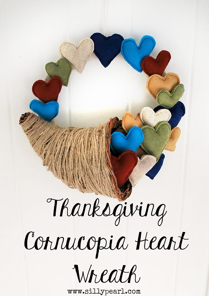 I made my Thanksgiving Cornucopia Heart Wreath as a reminder of the overflowing, abundant love I have in my life. Supplies: Wreath form, wrapped in twine; Craft…
